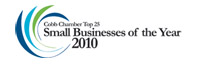 Cobb Chamber of Commerece Top 25 Small Business Award 2010